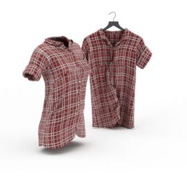 3d格子衬衫模型