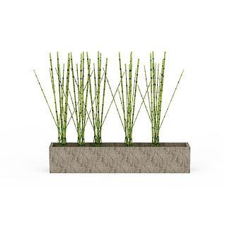 竹林3d模型
