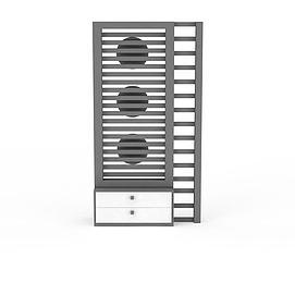 格栅暖气设备3d模型