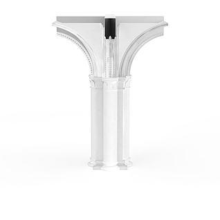 多边形柱子构件3d模型