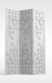 折叠印花隔断3d模型