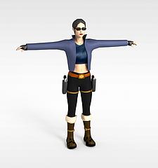 性感女人模型3d模型