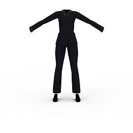 3d女士<font class='myIsRed'>衣服</font>套装模型
