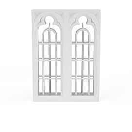 欧式建筑窗户模型