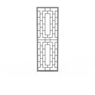 镂空门窗3d模型