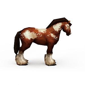 棕色花斑馬模型