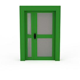 绿色木质门3d模型