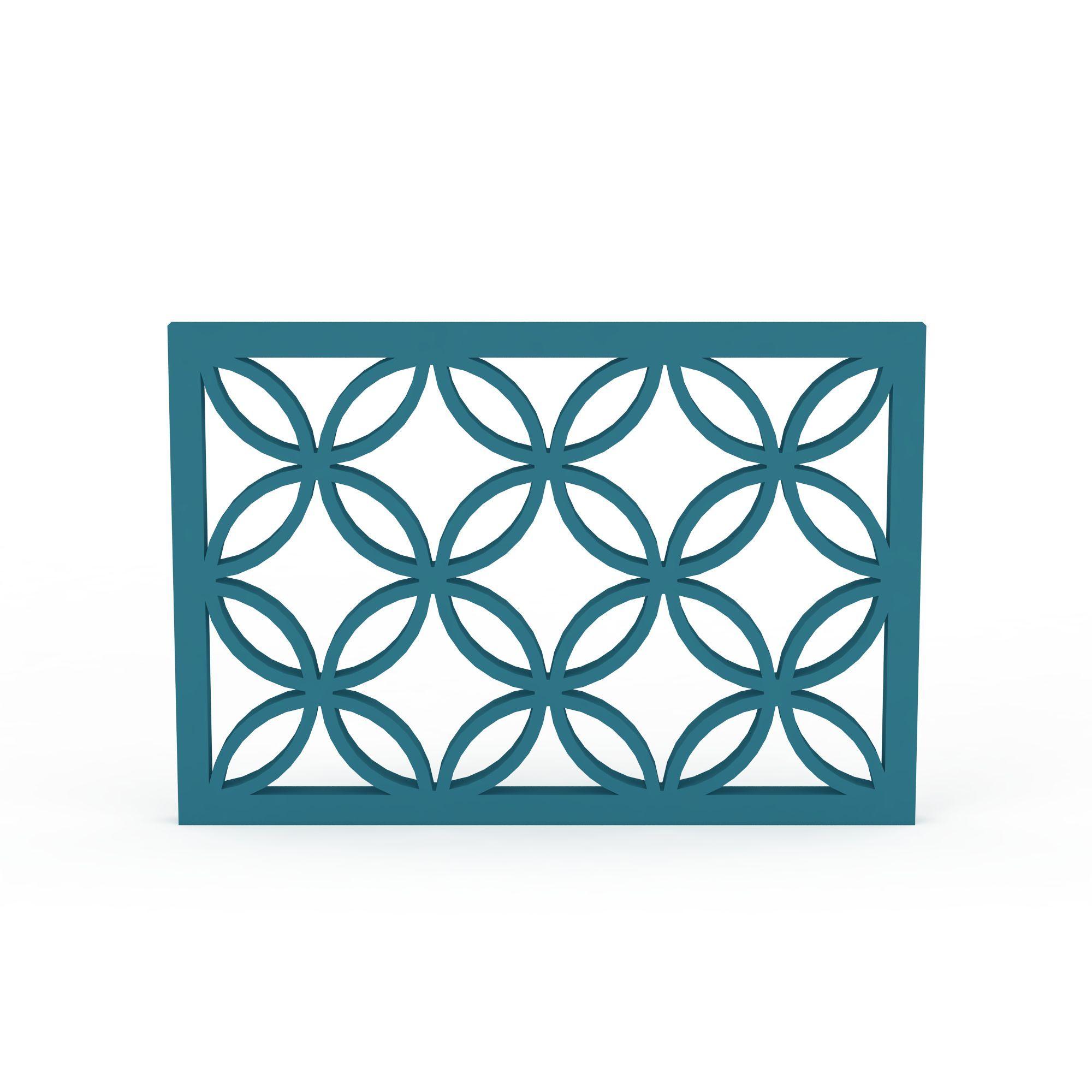蓝色花纹窗户高清图下载
