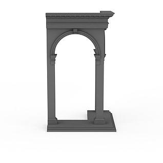 门洞构件3d模型