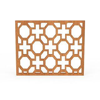 木质窗户3d模型