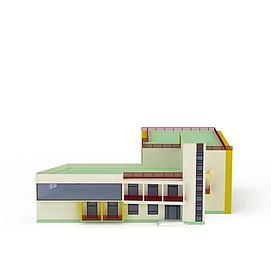 现代教学楼3d模型
