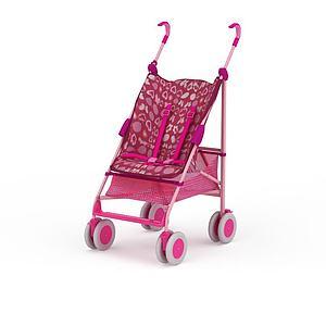 粉色兒童車模型3d模型