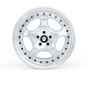 3d宝马车轮模型