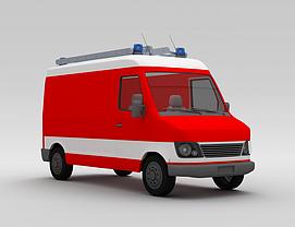 3d消防卡车模型