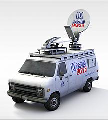 电视台摄影车3D模型3d模型