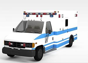 3d白色<font class='myIsRed'>卡車</font>模型