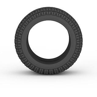 黑色轮胎3d模型