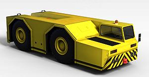 3d黃色<font class='myIsRed'>卡車</font>模型