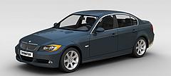 蓝色宝马汽车3D模型3d模型