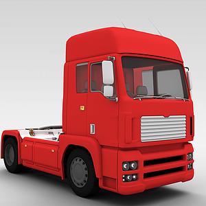 3d红色卡车模型