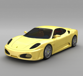 黄色跑车3d模型