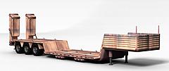 平板运输车模型3d模型