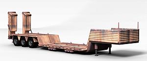 3d平板运输车模型