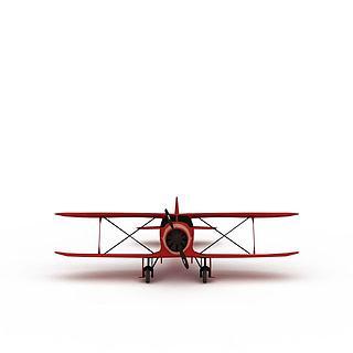 红色螺旋桨<font class='myIsRed'>飞机</font>3d模型
