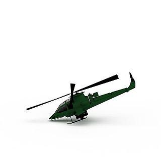 直升<font class='myIsRed'>飞机</font>3d模型