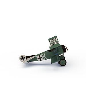 绿色飞机模型模型3d模型