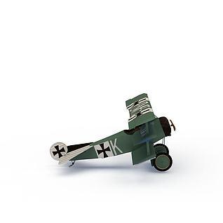 绿色飞机模型3d模型