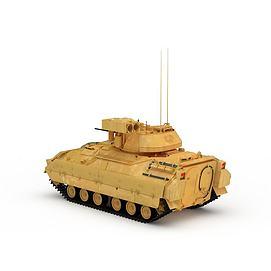 3d黄色<font class='myIsRed'>坦克</font>模型