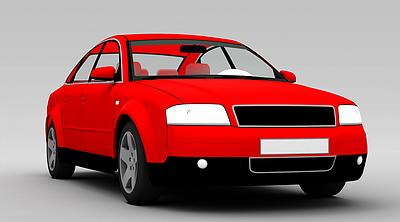3d<font class='myIsRed'>紅色</font>小轎車模型