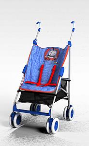 扶手嬰兒車模型3d模型