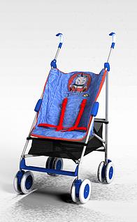 扶手婴儿车3d模型