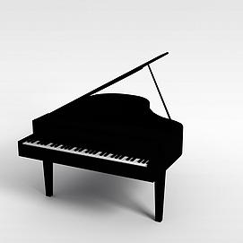 现代式钢琴模型