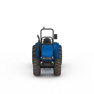 农用拖拉机3d模型