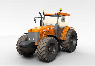 工地大型拖拉机3d模型