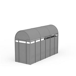3d公交站模型