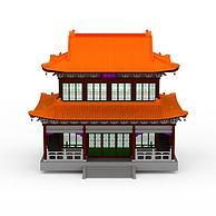 观音庙建筑3D模型3d模型