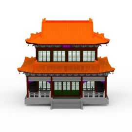 观音庙建筑3d模型