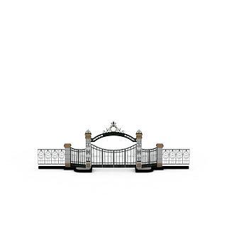 欧式建筑大门3d模型