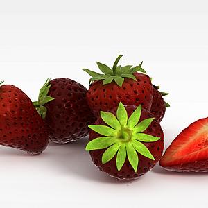 春节草莓水果模型