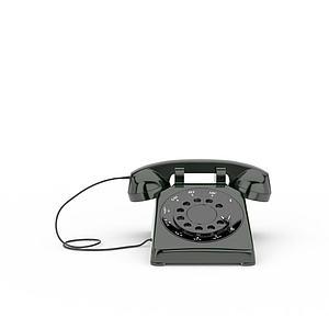 3d歐式仿古<font class='myIsRed'>電話</font>模型