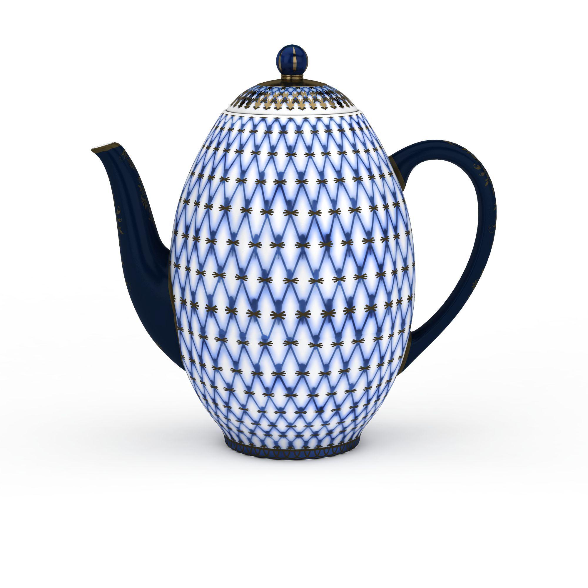 菱形花纹茶壶高清图下载