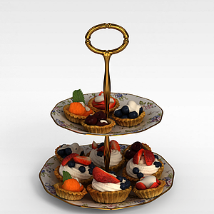 3d<font class='myIsRed'>蛋糕</font>陶瓷盘子模型