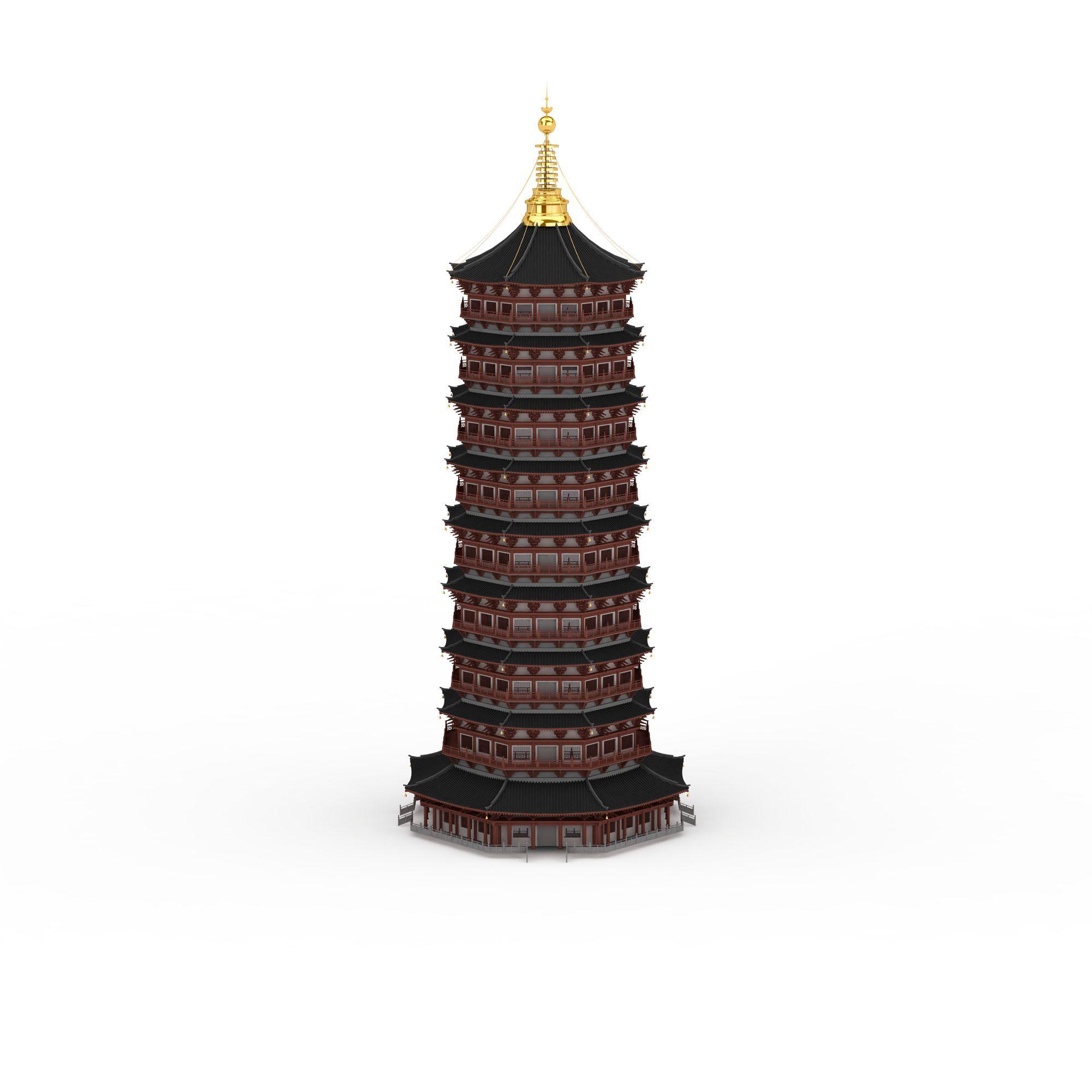 中式宝塔高清图下载图片