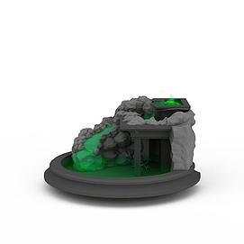 山水景观小品3d模型