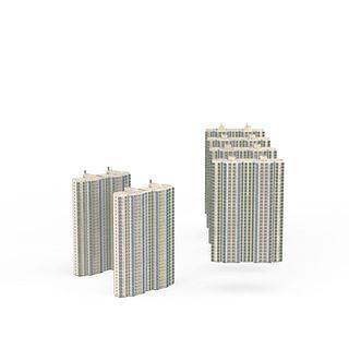 现代风格建筑3d模型