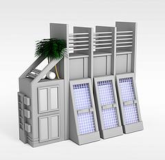 现代风格建筑模型3d模型
